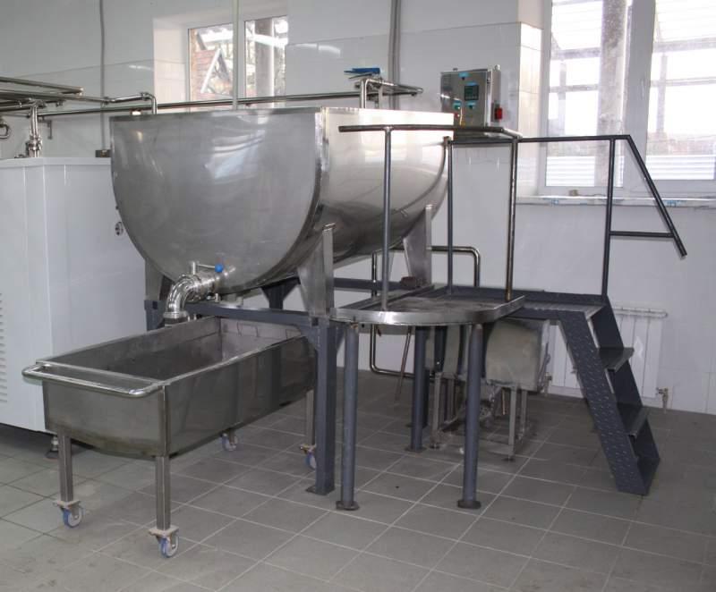 Купить Ванна творожная 200-2000л. Ванны творожные с нагревом от пара, горячей воды, эл.енергии