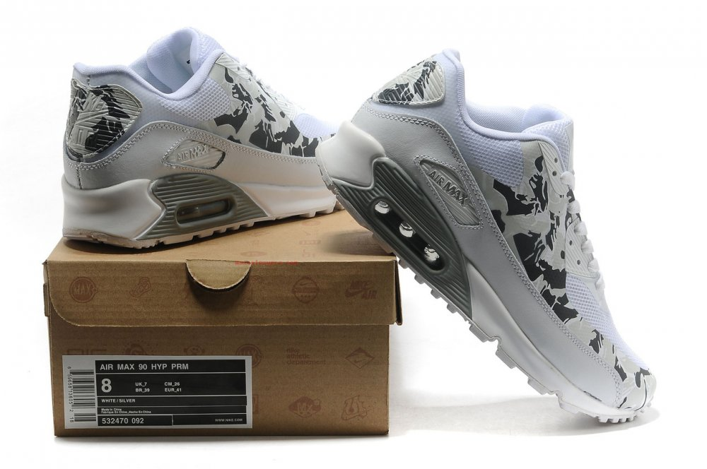 b7f9bb05 NIKE AIR MAX 90 HYPERFUSE FEMALE GREY WITH WHITE buy in Odessa