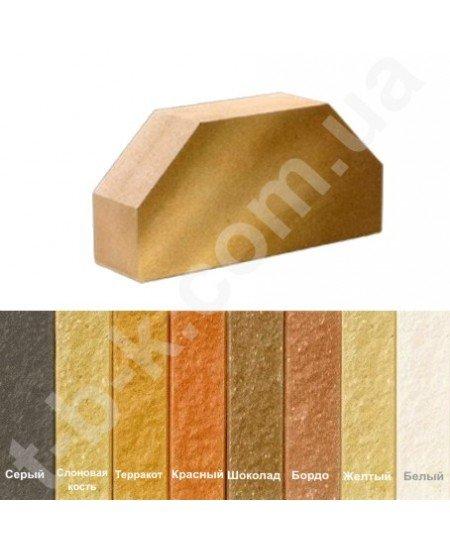 Кирпич Литос Стандартный Полнотелый Гладкий 2-х Угловой  Желтый