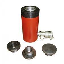 Домкрат гидравлический с маслостанцией с фиксирующей гайкой 50т