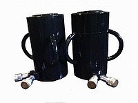 Домкрат гидравлический с маслостанцией с двумя быстроразъемными муфтами 100т