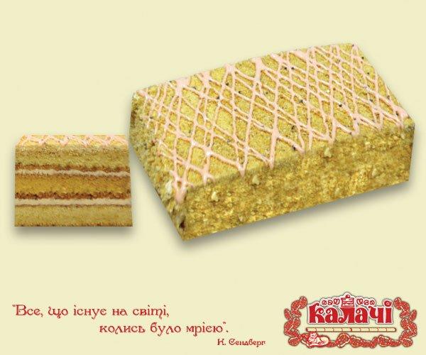 Медовий з кремом Іриска, опт торты медовые весовые от производителя