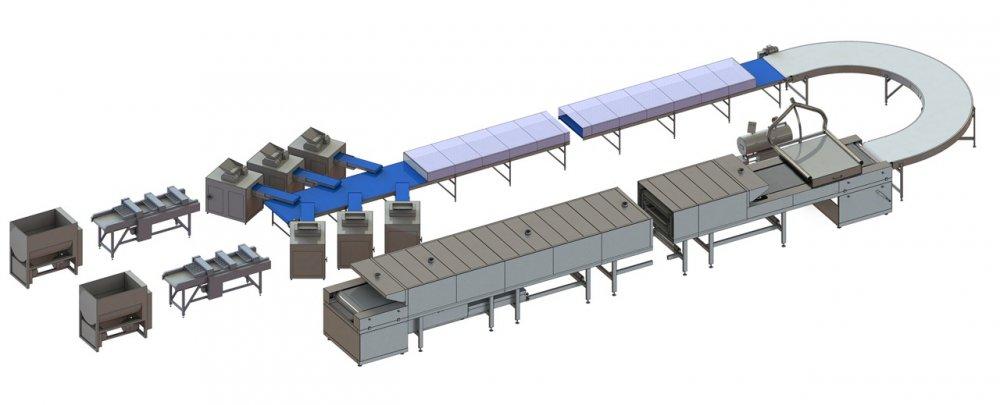 Устаткування для виробництва бубличних виробів