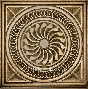 Купить Латунная вставка Калейдоскоп 7,5х7,5 для керамогранита и керамической плитки