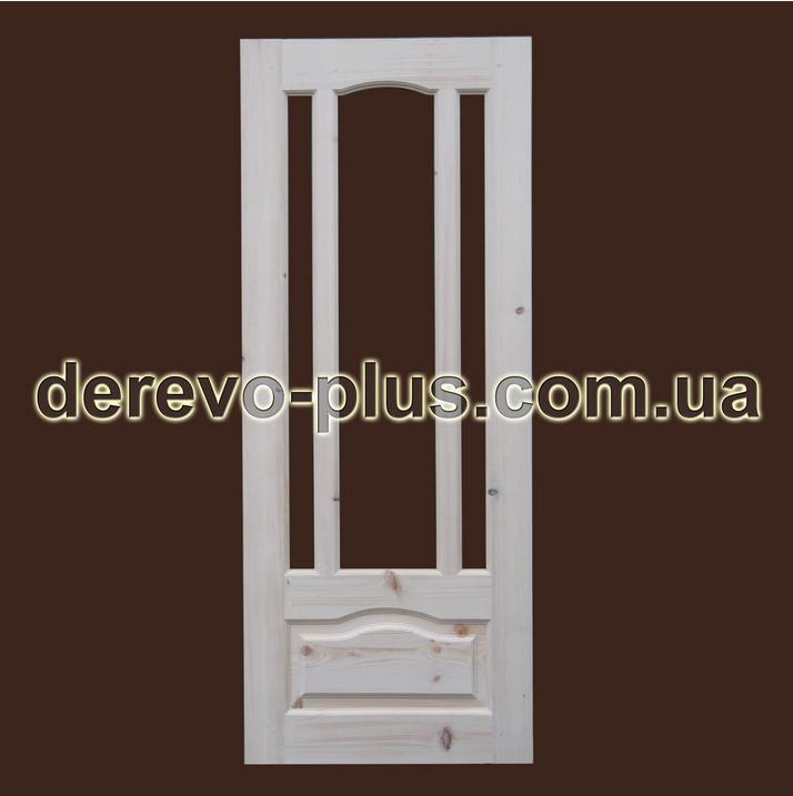 Двери из массива дерева 90см (под стекло) s_1190