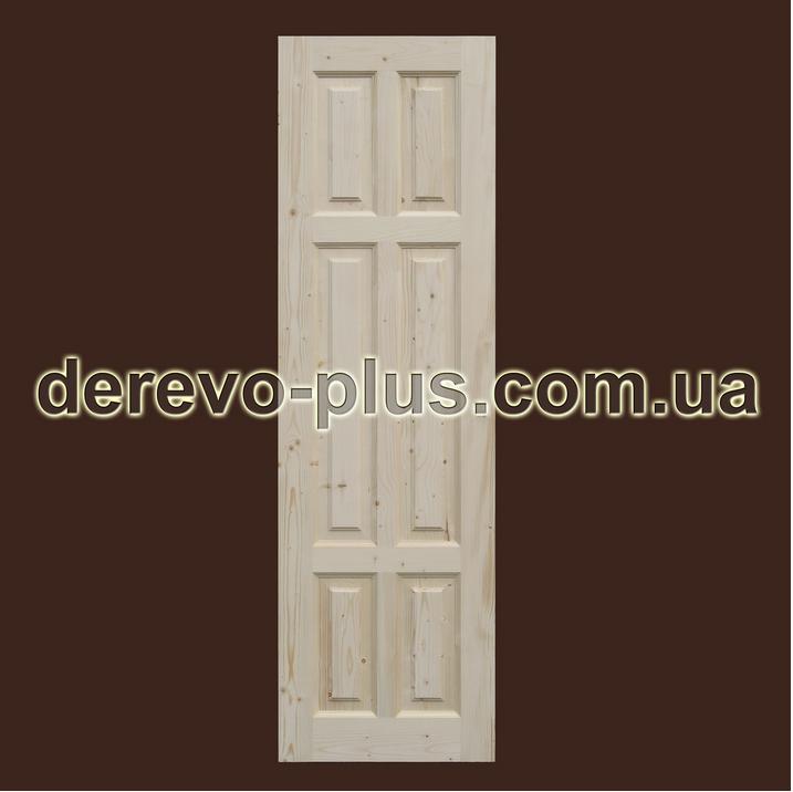 Двери из массива дерева 60см (глухие) f_0160