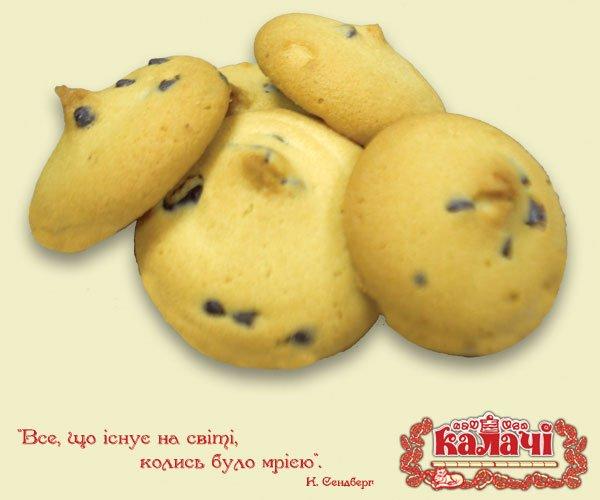 Печиво здобне Домашнє з шоколадом, печенье опт от производителя, кондитерское предприятие КАЛАЧИ