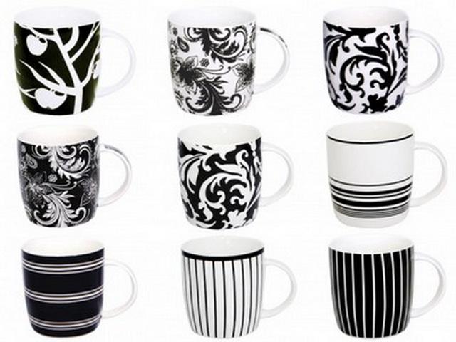 Чашка 360 мл. белое и чёрное СНТИ S&t2183