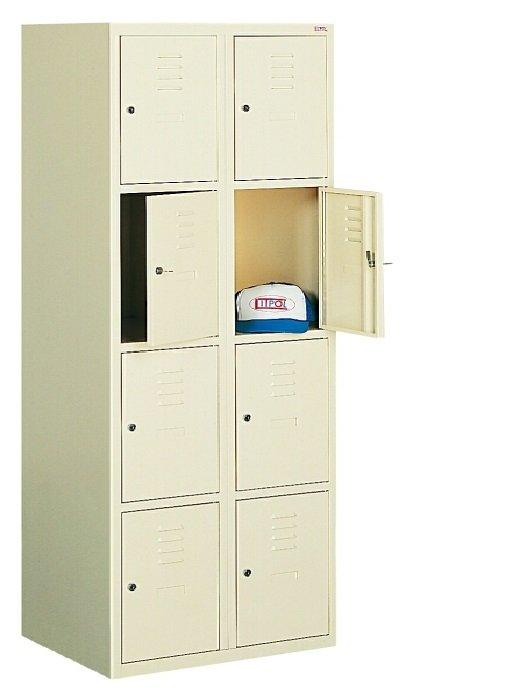 Ячеечный металлический шкаф (локер) на 8 отделений Sus 424