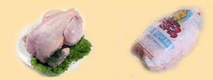 Тушки куриц-бройлеров охлажденные и замороженные