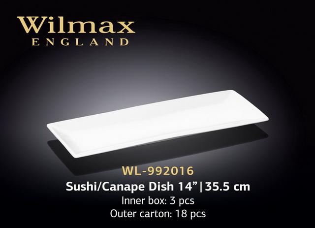 "Блюдо для суши / канапе 14"" | 35,5 см Wl-992016 wilmax"