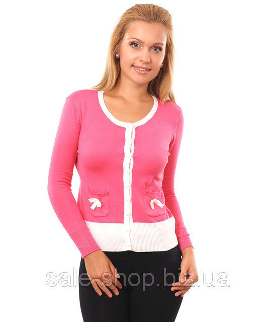 Купить Кофта Карман -бант розовая Артикул 888
