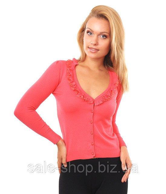 Купить Кофта воланы розовый Артикул 1182