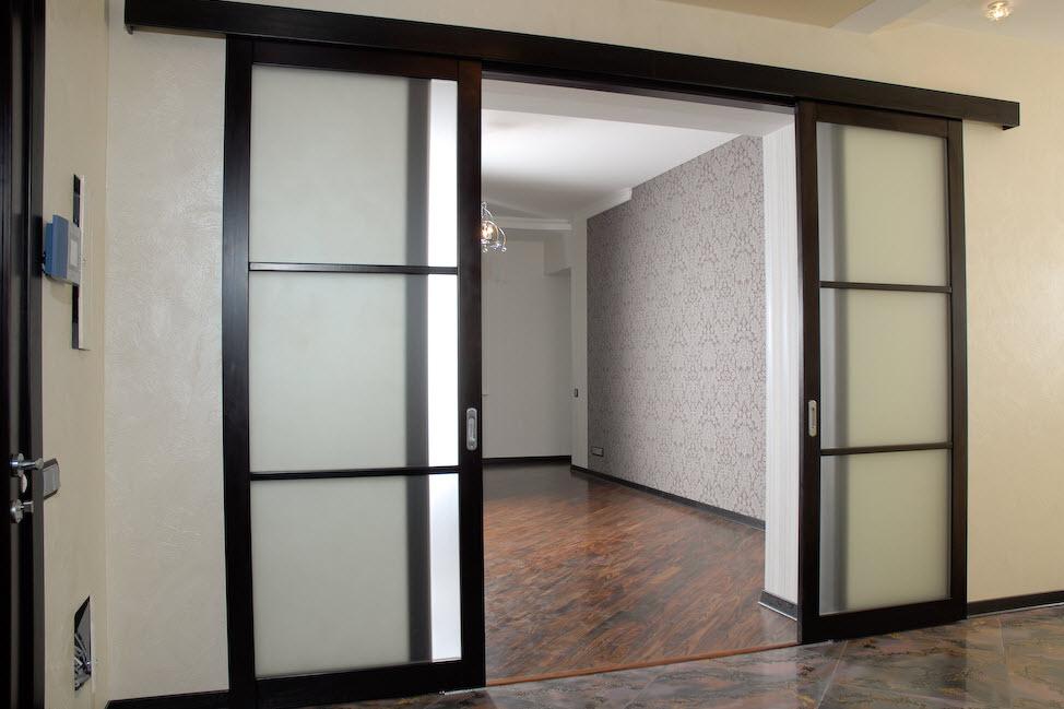 міжкімнатні розсувні двері ціни фото