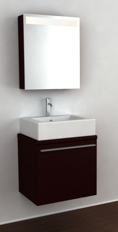 Furniture Set For A Bathroom Of CRW GT03 III Chocolate