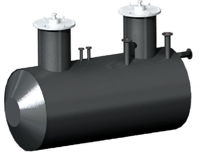 Резервуар стальной горизонтальный цилиндрический для хранения нефтепродуктов