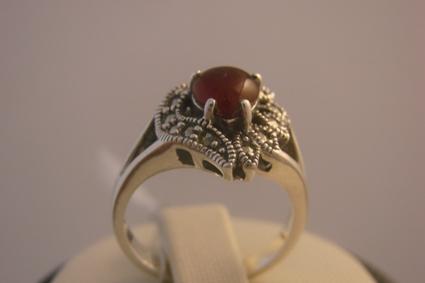 Купить Кольцо, серебро Ag 925° пробы, вес - 5,41 грамм, вставка: камни драгоценные