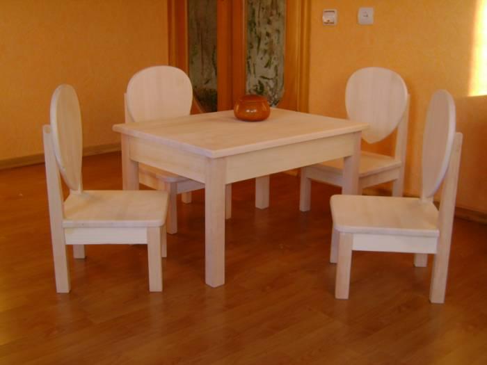 Детский стол из дерева своими руками 26