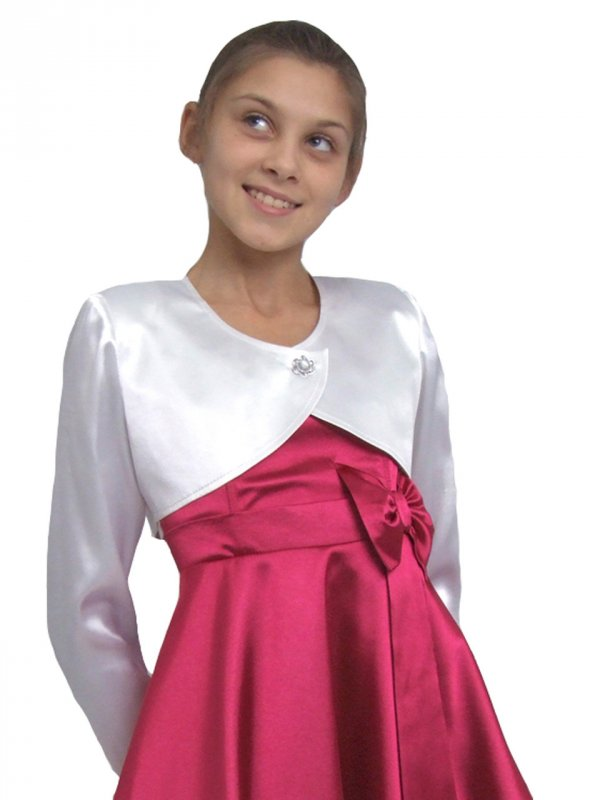 Болеро из атласа для девочки