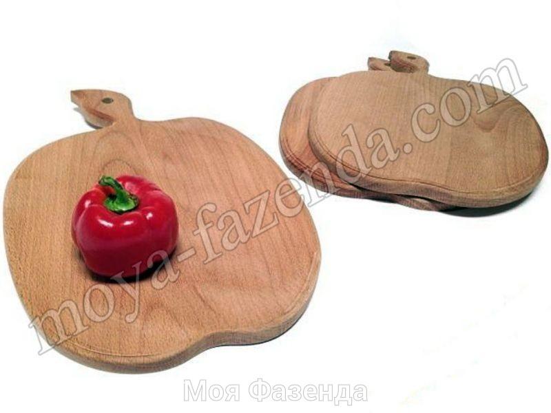 Доски кухонные в форме яблока 3 шт (код X-6)