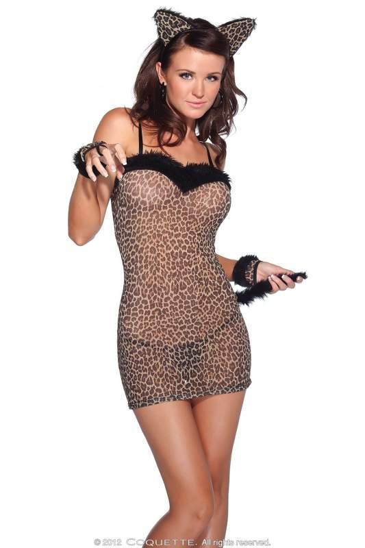 Эротический костюм кошки  Coquette