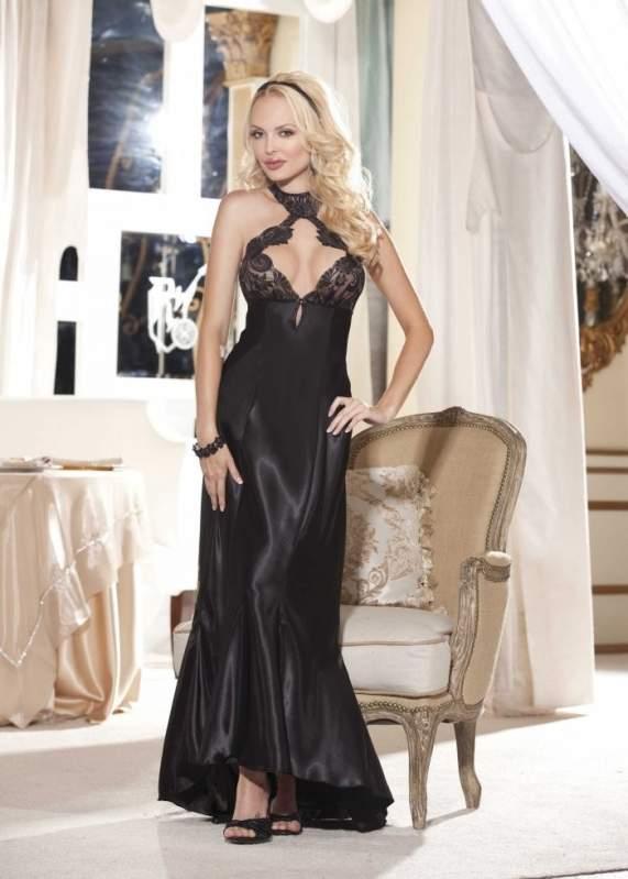 Элегантное ночное длинное платье