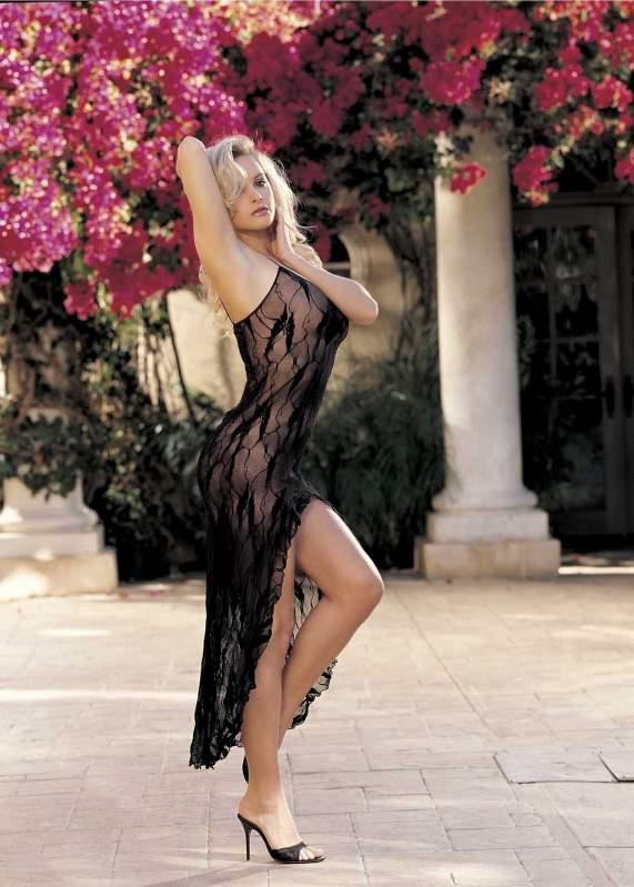 Прозрачное чулочное платье