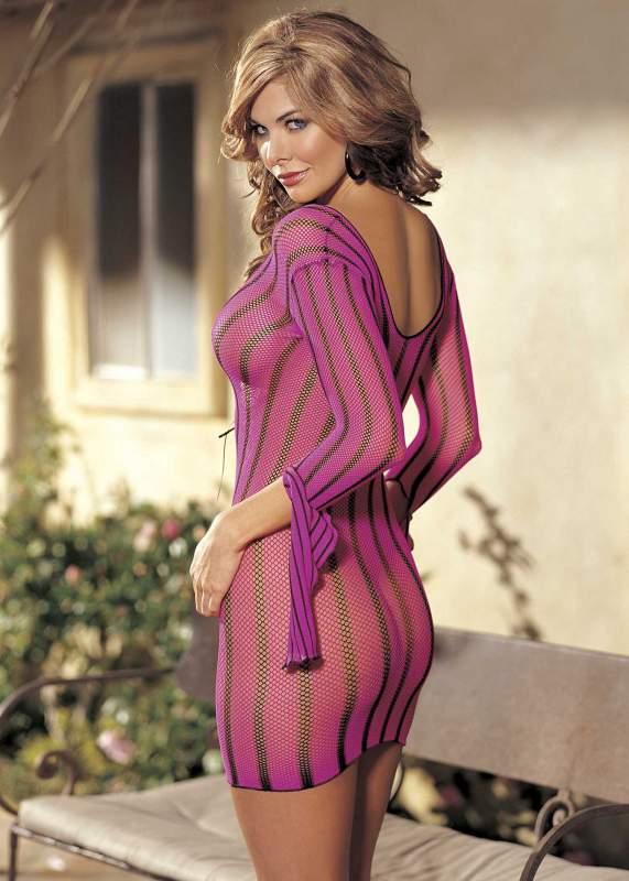 Розовое сетчатое платье  Shirley of Hollywood