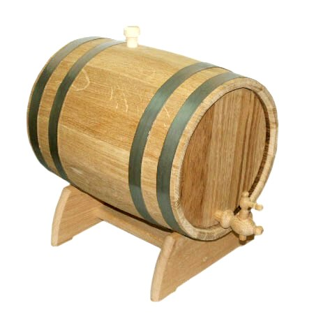 Buy Barrel for wine oak on a support of 25 l