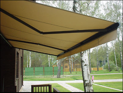 Buy Marquises of production of Slovakia and Germany, external blinds and roleta, canopies. Crimea.
