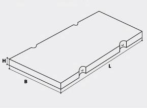 Плиты дорожные с рифленой поверхностью