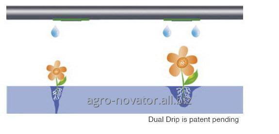 Капельные линия Dual Drip 16-10-40 см (1,6 л/ч)для увеличения орошаемой площади
