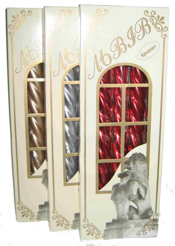 """Candles """"Decorative varnish. """"Lviv"""", (in a box on 5 pieces)"""