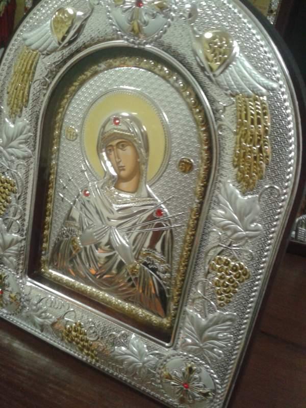 Купить Икона Богородица Семистрельная, Артикул МА/Е-ВХ-К, Р-р 14*18*3