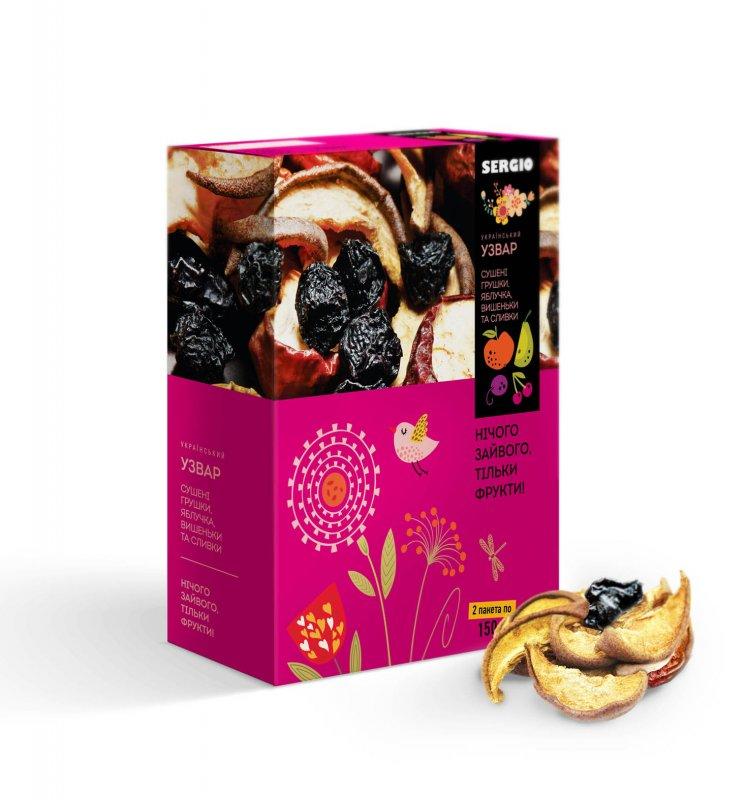Купить Смесь сушеных фруктов Узвар Украинский,150х2
