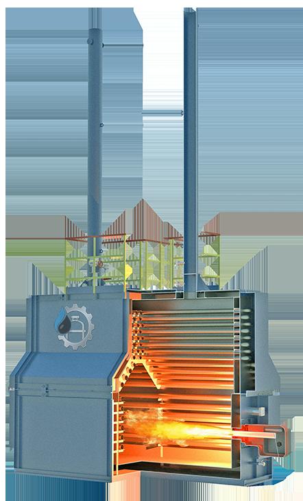 Печь трубчатая горизонтальная для нагрева нефти