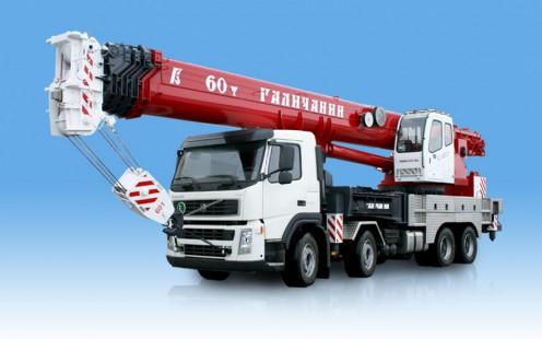 Автокран КС-65721 грузоподъёмность 60 тонн, длина стрелы 42 метра