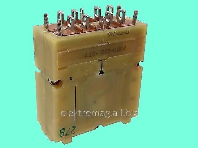 Реле электромагнитное промежуточное РЭП-11-220 27В заднее крепление
