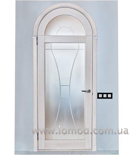 Дверь деревянная арочная. Модель Лотос.