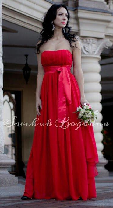 d96fd00ec0e5 Червоне вечірнє плаття із шифону купити в Київ
