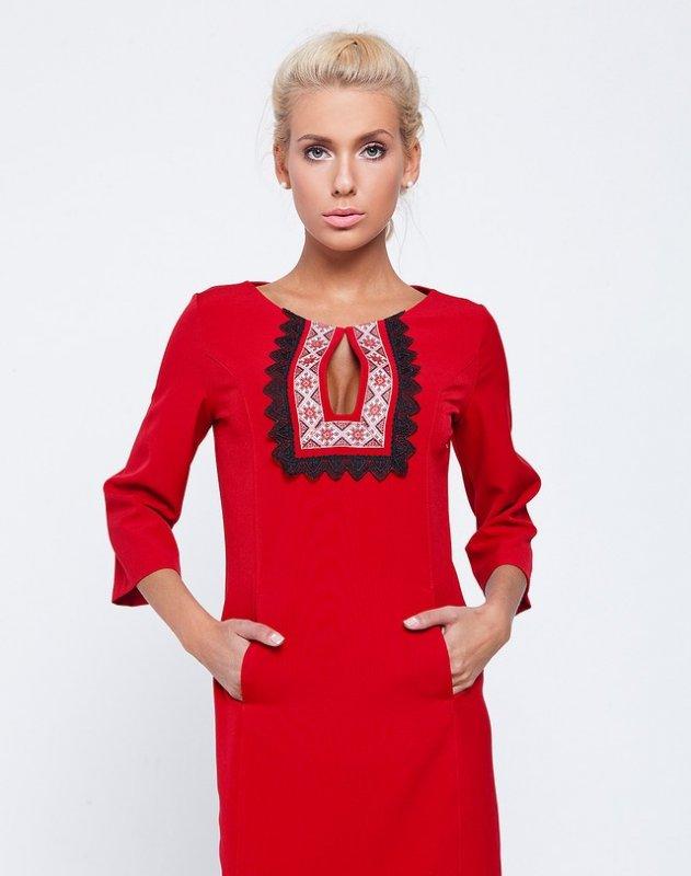 Платье элегантное с элементами вышиванки купить в Киеве 1fe0f844b8b99