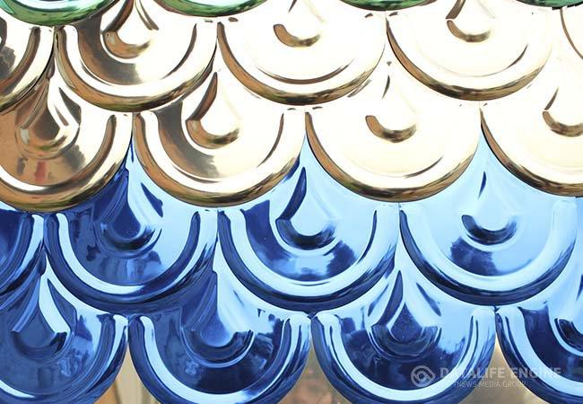 Металлочерепица стальная цветная с покрытием из нитридов и оксидов титана