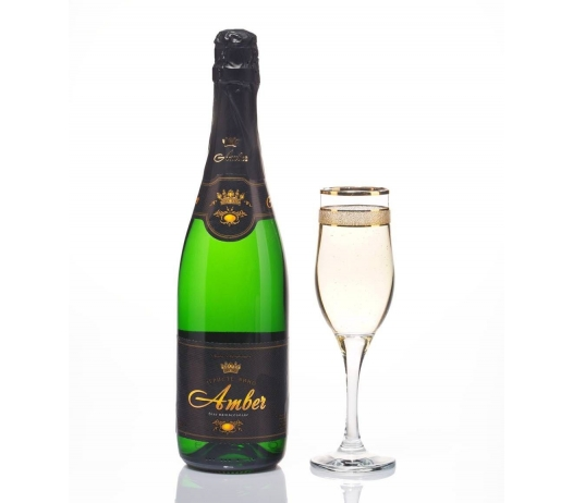 Вино игристое белое «Амбер» (брют, сухое, полусухое, полусладкое, сладкое)