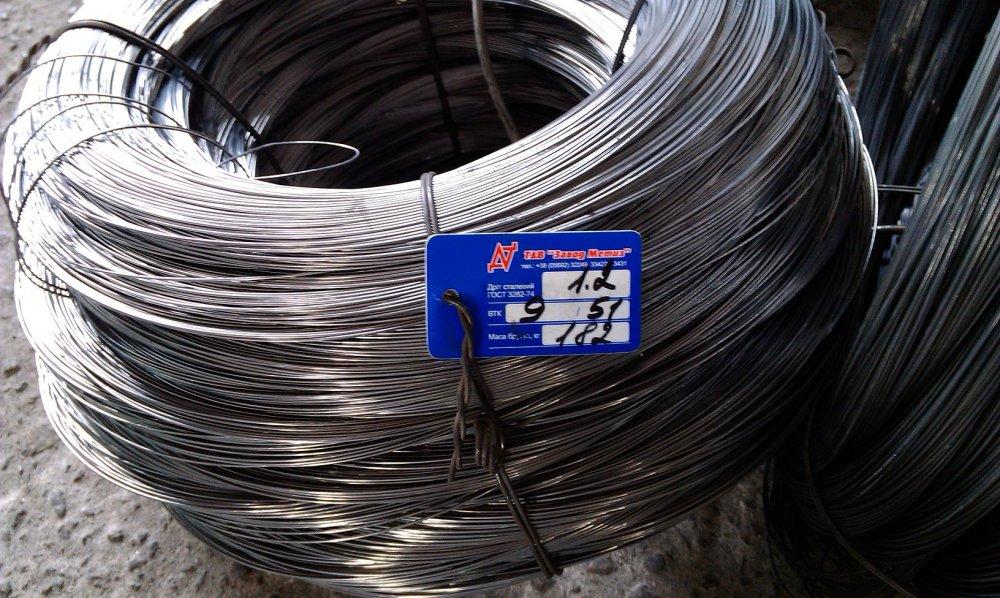 Проволока стальная общего назначения ГОСТ 3282-74, диаметр от 0.5 мм до 6.0 мм