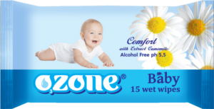 Buy Wet towel wipes for children with TM Ozone camomile extrac