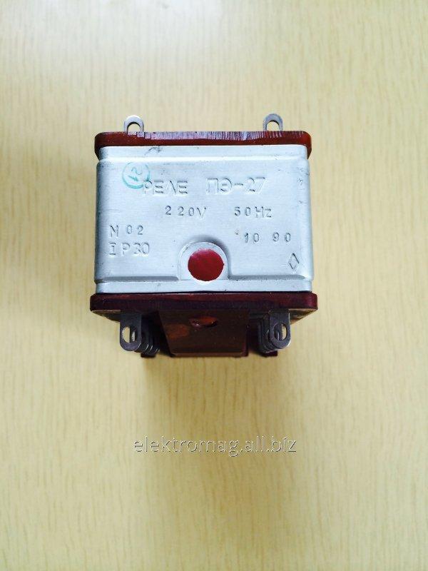 Реле электромагнитное ПЭ-27 220В