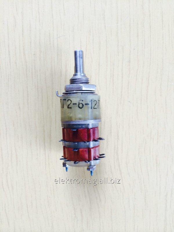 Переключатель галетный малогабаритный ПГ2-6-12П2НВ