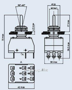 Тумблер ПТ3-30В