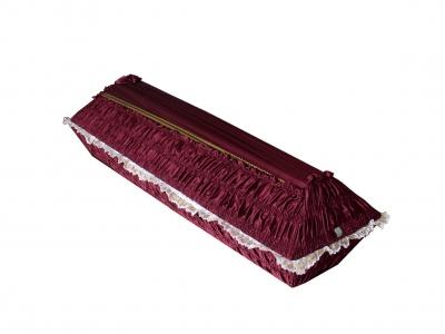 Гроб драпированный креп-сатин