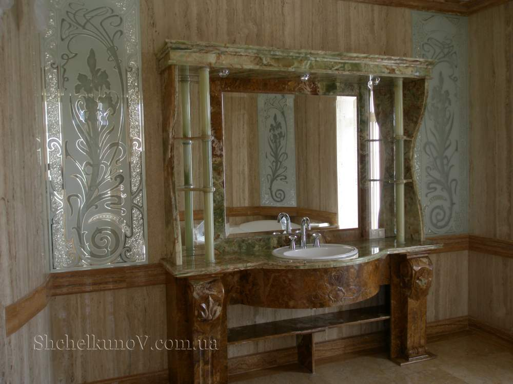 Buy Marble table-top in a bathroom.